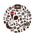 fast food icons in circle vector image vector image