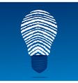 finger print bulb vector image
