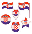 flag of the croatia performed in defferent shapes vector image