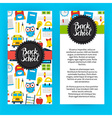 Flyer Template Back to School vector image