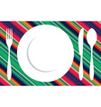 Fork knife and spoon tablecloth vector image vector image