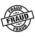 fraud round grunge black stamp vector image vector image