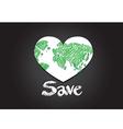 Globe earth icons themes idea design vector image