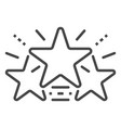 glow stars icon outline style vector image