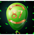 Green balloon with golden inscription eighty seven vector image vector image