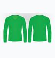 green long sleeve t shirt vector image vector image