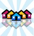 group of houses neighborhood vector image vector image