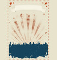 grunge fourth of july poster vector image vector image