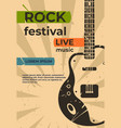 guitar poster music jazz rock concert or party vector image vector image