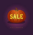 halloween sale vector image