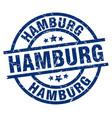 hamburg blue round grunge stamp vector image vector image