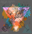 hand drawing of champagne bottle and glass vector image vector image