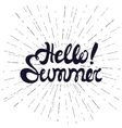 Hello summer poster lettering with conceptual vector image vector image