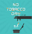 human hands and quit tobacco logo design vector image vector image