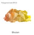 isolated icon bhutan map polygonal geometric vector image vector image