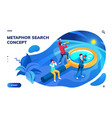 isometric page for search concept or metaphor vector image vector image