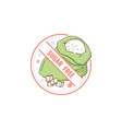 label sticker and icon for sugar free healthy and vector image