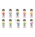 little asian boy set vector image vector image