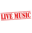 live music sign or stamp vector image vector image