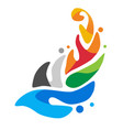 logo of the european games in minsk 2019 vector image vector image