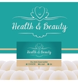 logo with shell and pearl Gold and turquoise vector image vector image