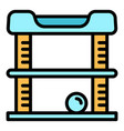 modern cat play house icon outline style vector image vector image