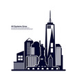 modern city skyline city silhouette in flat vector image vector image