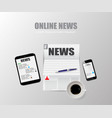 online news technology vector image vector image
