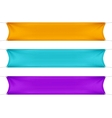 Orange Turquoise and Purple Blank Empty Banners vector image vector image