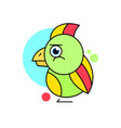 parrot logo on white background vector image