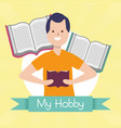 people my hobby vector image