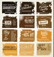 premium best choice grunge brown banner vector image vector image