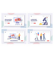 pyelonephritis landing page template set tiny vector image vector image