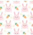 rabbit and carrot seamless pattern background vector image vector image