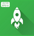 rocket space ship icon in flat style spaceship vector image vector image
