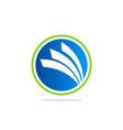 round business finance loop blue logo vector image