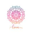 round decorative ornament element mandala vector image