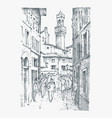 scene streets in european town florence in italy vector image vector image