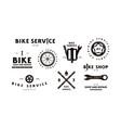 set bike shop badges and labels vector image