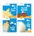 set of summer cards vector image vector image