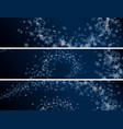 set winter abstract snowflakes banners vector image vector image