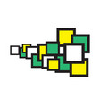 square-space-yellow-green-centr vector image vector image