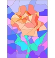Stained glass rose flower for your design