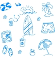 Summer of doodles for kids vector image vector image