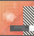 trendy abstract shapes geometric background 90s vector image