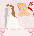 Valentines Day card with a romantic couple vector image vector image