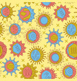 virus seamless pattern in colored line style vector image