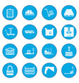 warehouse logistic storage icon blue vector image vector image
