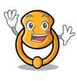 waving metal door knocker on character cartoon vector image