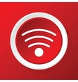 Wi-Fi icon on red vector image vector image